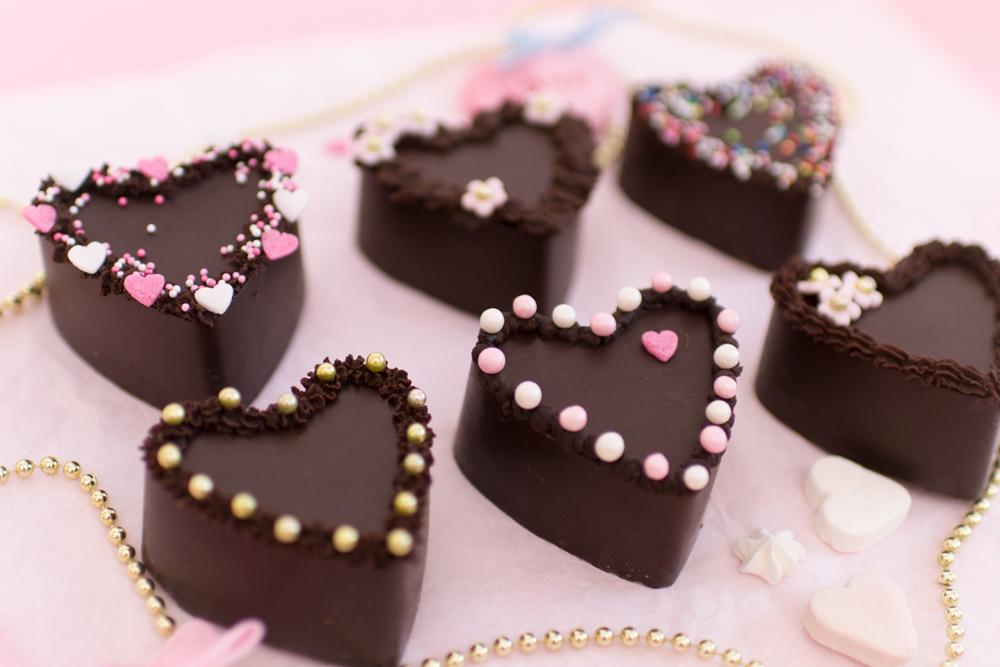 Mini Schoko Kuchen Nobake Schokoladenkuchen Herzen Schokoherzkuchen