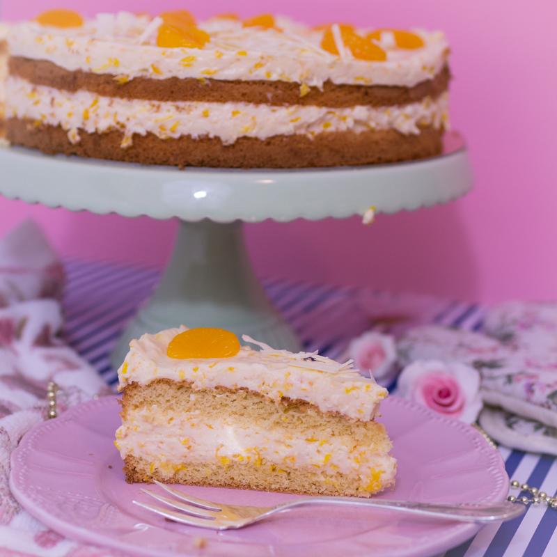 Schnelle mandarinen-schmand-torte